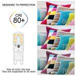SHINE HAI G9 Ampoule LED 3W Equivalent à Ampoule Halogène/Incandescente 25W, Blanc Chaud 3000K, 280LM, Culot G9, 270° Large Faisceau, IRC>80, Lot de 6 de la marque SHINE HAI image 1 produit