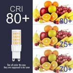 SHINE HAI G9 Ampoule LED 6W Equivalent à Ampoule Halogène/Incandescente 45W, Blanc Chaud 3000K, 450LM, 360° Large Faisceau, IRC>80, Culot G9, Lot de 6 de la marque SHINE HAI image 4 produit