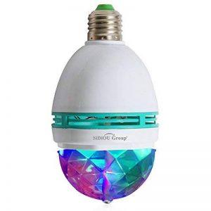 Sidiou Group Ampoules Triangle 3 W E27 RVB couleurs changeantes Effet boule de cristal lampes DJ Disco LED rotatif scène automatique pour les fêtes, les clubs, les bars et à la maison (E27) de la marque Sidiou Group image 0 produit