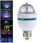Sidiou Group Ampoules Triangle 3 W E27 RVB couleurs changeantes Effet boule de cristal lampes DJ Disco LED rotatif scène automatique pour les fêtes, les clubs, les bars et à la maison (E27) de la marque Sidiou Group image 4 produit