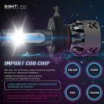 SIGHTLING 60W 6000LM H4 LED Phare Auto Car Lampe Feux Conversion Ampoule Light 6000K - 3 ans de garantie de la marque SIGHTLING image 3 produit