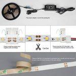 Signcomplex Bande LED flexible 3528 SMD Ruban LED avec ruban autocollant 3M 5m une bobine 12V DC (Vert) de la marque Signcomplex image 4 produit
