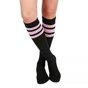 Skatersocks 22 cm tube de chaussettes hautes style oldschool de chaussettes de sport noir/rayures de la marque Skatersocks image 0 produit