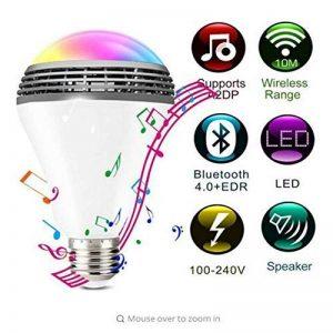 Smart RGB Ampoule Bluetooth 4,0 Audio Haut-Parleurs Lampe Dimmable E27 LED Sans Fil De Musique Ampoule Changement De Couleur Par Le Biais De Wifi App Control de la marque Smart Light image 0 produit