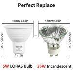 Smartinliving ampoule LED GU105W, Blanc Froid 6000K, remplacement des ampoules halogènes de 50W, non compatible avec variateur d'intensité, 350LM, 220–240V, Lot de 10unités de la marque SmartinLiving image 1 produit