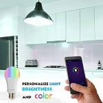 SODIAL ISB600 Ampoule LED WiFi intelligent, Multicolore, Dimmable, Repeteur gratuit, APP Telecommande gratuit, Amazon Alexa et Google Assistant compatibles 3 pieces de la marque SODIAL image 4 produit