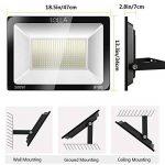 SOLLA Projecteur LED 300W, IP66 Imperméable, 24000LM, Eclairage Extérieur LED, Equivalent à Ampoule Halogène 1600W, 3000K Blanc Chaud, Eclairage de Sécurité de la marque SOLLA image 3 produit