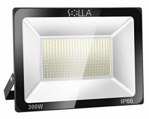 SOLLA Projecteur LED 300W, IP66 Imperméable, 24000LM, Eclairage Extérieur LED, Equivalent à Ampoule Halogène 1600W, 3000K Blanc Chaud, Eclairage de Sécurité de la marque SOLLA image 0 produit