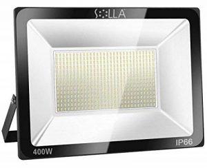 SOLLA Projecteur LED 400W, IP66 Imperméable, 32000LM, Eclairage Extérieur LED, Equivalent à Ampoule Halogène 2140W, 6000K Lumière Blanche du Jour, Eclairage de Sécurité de la marque SOLLA image 0 produit