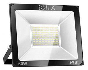 SOLLA Projecteur LED 60W, IP66 Imperméable, 4800LM, Eclairage Extérieur LED, Equivalent à Ampoule Halogène 340W, 6000K Lumière Blanche du Jour, Eclairage de Sécurité de la marque SOLLA image 0 produit