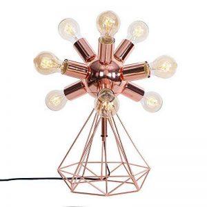 SOLUCKY Retro Décoration Industrial Table Lights E27 9 Têtes Lampe De Fer Pour Salle De Séjour Chambre D'éclairage Luminaire Rose Or [Energy Class A +] de la marque SOLUCKY image 0 produit