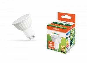 Spectrum LED GU1010W Équivalent Ampoule halogène 75W Blanc chaud 2700–3200K Angle de faisceau large 120° 680LM Ampoule spot LED respectueuse de l'environnement à économie d'énergie de la marque SPECTRUM LED image 0 produit