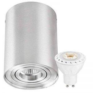 Spot LED Construction Kit Roue aluminium avec ampoule LED GU10Spot de la marque ledando–7W COB–Blanc Chaud–Angle d'éclairage 30°–Orientable–Remplacement 50W–a +–aluminium–Spots de la marque LEDANDO image 0 produit
