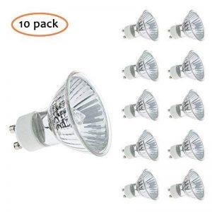 Spots halogène ampoules GU10à intensité variable Blanc chaud, 50W, Lot de 10 de la marque Multipack Lighting image 0 produit