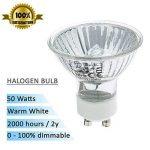 Spots halogène ampoules GU10à intensité variable Blanc chaud, 50W, Lot de 10 de la marque Multipack Lighting image 1 produit