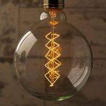 Spyral Globe Retro 40W Ampoule Edison E27 Diamètre : 125 mm Ampoule décorative à filaments de la marque Underground Vintage Lamps image 3 produit
