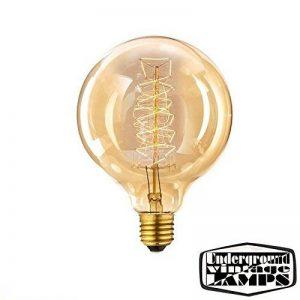 Spyral Globe Retro 40W Ampoule Edison E27 Diamètre : 125 mm Ampoule décorative à filaments de la marque Underground Vintage Lamps image 0 produit