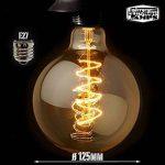 Spyral Globe Retro 40W Ampoule Edison E27 Diamètre : 125 mm Ampoule décorative à filaments de la marque Underground Vintage Lamps image 1 produit