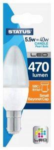 Status 5.5SLCSBCP1PKB8 B15d Ampoule LED 5,5W blanc chaud de la marque Status image 0 produit
