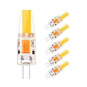 Sunix 5 X Ampoule LED G4 2W, Équivalent à Ampoule Halogène 20W, AC/DC 12V, Blanc Chaud 3000K, 180lm, 360° Larges Faisceaux, Lot de 5 pièce de la marque Sunix image 0 produit