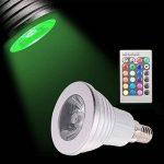 Sunix® Ampoules LED 3W E14 RGB, 16 choix de couleurs, changement de couleur, 24 Clés de Télécommande incluses, Ambiance d'éclairage pour la Maison Décoration Fête, Hôtels, Clubs, Centres Commerciaux, etc. de la marque Sunix image 2 produit