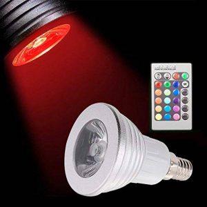 Sunix® Ampoules LED 3W E14 RGB, 16 choix de couleurs, changement de couleur, 24 Clés de Télécommande incluses, Ambiance d'éclairage pour la Maison Décoration Fête, Hôtels, Clubs, Centres Commerciaux, etc. de la marque Sunix image 0 produit