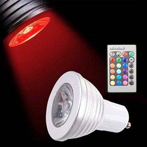 Sunix® Ampoules LED 5W GU10 RGB, 16 choix de couleurs, changement de couleur, 24 Clés de Télécommande incluses, Ambiance d'éclairage pour la Maison Décoration Fête, Hôtels, Clubs, Centres Commerciaux, etc. de la marque Sunix image 0 produit