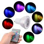 Sunix® Ampoules LED 5W GU10 RGB, 16 choix de couleurs, changement de couleur, 24 Clés de Télécommande incluses, Ambiance d'éclairage pour la Maison Décoration Fête, Hôtels, Clubs, Centres Commerciaux, etc. de la marque Sunix image 4 produit