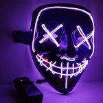 SunRlity Masque d'halloween LED Light Up Masques De Fête La Purge Année D'élection Grande Funny Masks Festival Cosplay Fournitures De Costume Glow in Dark de la marque SunRlity image 1 produit