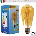 SunSeed 4x Ampoule Filament LED Vintage E27 6W Dimmable Blanc Extra Chaud 2200K de la marque Sun Seed image 1 produit
