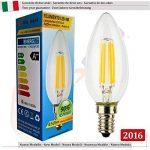 SunSeed, Garantie de deux ans, 10 X E14 4W Ampoule Flamme à Filament LED en Saphir C35 AC22-240V Blanc Naturel 4000K 450 Lumens 300° Alimentation à commutation de la marque Sun Seed image 1 produit