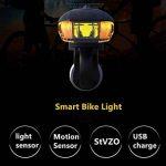 Sunspeed Eclairage Vélo LED Ultra Puissant Lampe de Vélo USB Rechargeable, Mode de Lumière d'induction Intelligent, Résistant à l'eau, 400Lumens de la marque Sunspeed image 4 produit