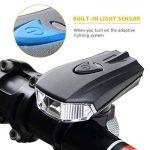 Sunspeed Eclairage Vélo LED Ultra Puissant Lampe de Vélo USB Rechargeable, Mode de Lumière d'induction Intelligent, Résistant à l'eau, 400Lumens de la marque Sunspeed image 1 produit