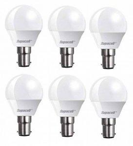 Supacell LED G45ampoules balle de golf–Lot de 6–B15/SBC/petite baïonnette–5W–blanc chaud 3000K/425lumens/Pearl Finition opale/20000heures Durée de vie moyenne/NON Dimmable/100–250V d'alimentation–200degrés Angle de faisceau/50–60Hz/SKU image 0 produit