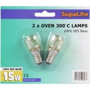 SupaLite Lot de 2 ampoules de four Culot SES 300° C 240 V 15 W de la marque SupaLite image 0 produit