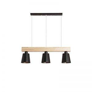 Suspension 5W moderne Lampe LED Plafonnier Hauteur Réglable Lustre plafond Lampe Pendentif lumière (Noir 3 lumières) de la marque GBLY image 0 produit