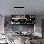 Suspension 5W moderne Lampe LED Plafonnier Hauteur Réglable Lustre plafond Lampe Pendentif lumière (Noir 3 lumières) de la marque GBLY image 4 produit
