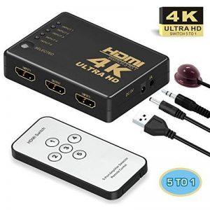 Switch HDMI, GANA HDMI Splitter | Sélecteur HDMI 5 Entrées 1 Sortie 1080P 3D Adaptateur HDMI Splitter HDMI Commutateur avec Télécommande IR pour PS3 Xbox 360 Lecteur DVD HDTV Projecteur Camcorder HTPC Tablette de la marque GANA image 0 produit