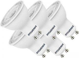 Sylvania SYL0027459 Lot de 5 Réflecteurs LED, Plastique/, GU10, 4,5 W, Blanc, 6, 5 x 8 SYL0027459 de la marque Sylvania image 0 produit