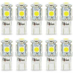 T10 LED Ampoules de voiture lampe 168 194 W5W 5 SMD 5050 6000K LED remplacement 6000K Pure White pour Voiture Lampes de lecture de plaques d'immatriculation Lumières Lampes MA7 de la marque BeiLan image 0 produit