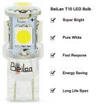 T10 LED Ampoules de voiture lampe 168 194 W5W 5 SMD 5050 6000K LED remplacement 6000K Pure White pour Voiture Lampes de lecture de plaques d'immatriculation Lumières Lampes MA7 de la marque BeiLan image 1 produit