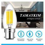TAMAYKIM C35 6W Dimmable Ampoule Filament LED - 4000K Blanc Neutre 600 Lumen - 6 Watts Consommés - Équivalent 60W - Culot B22 - Forme Torpedo - Angle de Faisceau 360° - Lot de 6 de la marque TAMAYKIM image 1 produit