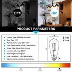 TAMAYKIM ST64 6W Dimmable Antique Edison Style Ampoule Filament LED - 2700K Blanc Chaud 600lm - 6 Watts Consommés - Équivalent 60W - Culot E27 - Angle de Faisceau 360° de la marque TAMAYKIM image 2 produit