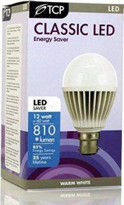 TCP 12W B22/BC Ampoule LED GLS baïonnette Lampes LED, ultra lumineux 810Lumen, Blanc chaud 2700K, 230Angle de faisceau, remplace Old 60–70W A60ampoules globe, Lot de 6 de la marque TCP image 0 produit
