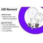 TCP - Ampoule LED ronde à filament style vintage 6W B22720 lm - Culot à baïonnette G95BC B22- Durée de vie de 15 000heures de la marque TCP image 2 produit