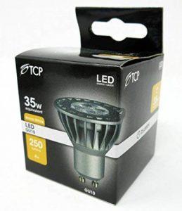 TCP GU10Watt LED Spot halogène de rechange, Lot de 12, Blanc, Warm Whte, GU10, 4.00 wattsW 240.00 voltsV de la marque TCP image 0 produit