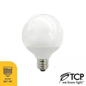 TCP Lot de 6 grandes ampoulessphériques de 15W à baïonnette ES E27- Blanc Chaud - ampoules à économie d'énergie équivalentes à 70W de la marque TCP image 0 produit