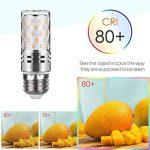 Tebio 12 W LED Maïs ampoules, E27, 100W Ampoule à incandescence équivalent, 3000K Blanc Chaud, 1200LM, Cri>80 +, Petit culot à vis, non dimmable, Chandelier ampoules LED(4 PCS) de la marque Tebio image 3 produit