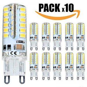 TechBox® Pack x10 Ampoules led G9 220V silicone blanc chaud 6W dimmable equivalent à 50w de la marque TechBox image 0 produit