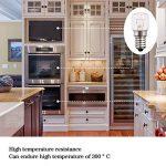 Techgomade Petit culot à vis E14Base, au four ampoules, tungstène lumière, 25W Ampoule halogène, Blanc chaud 2700K, non dimmable, forme tubulaire, Lot de 4 de la marque TECHGOMADE image 1 produit